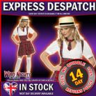 FANCY DRESS COSTUME # LADIES TARTAN SCHOOLGIRL UNIFORM SCHOOL OUTFIT SM 8-10